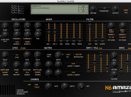 Tyrell N6 User Interface